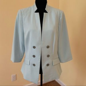 Jackets & Blazers - WHBM Mint Green Collarless Blazer - 14